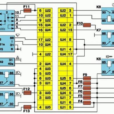 Схема блок реле ваз 2112 инжектор